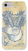 Vintage 1923 Harley Engine Patent Artwork IPhone Case