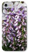 Weeping Wisteria - Spring Snow - Ice - Lavender - Flora IPhone Case