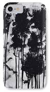 Whimsical Black And White Landscape Original Painting Decorative Contemporary Art By Madart Studios IPhone Case