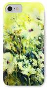White Poppy Garden IPhone Case