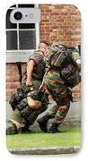 Soldiers Of The Belgian Army Helping IPhone Case
