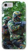 Belgian Paratroopers Proceeding IPhone Case
