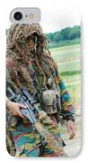 A Sniper Of The Belgian Army Together IPhone Case