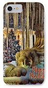 Bryant Park Fountain Holiday IPhone Case