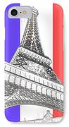 Eiffel De Gaul IPhone Case