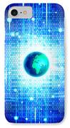Globe With Technology Background IPhone Case