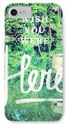 #lake #water #sign #amazing #tagstagram IPhone Case