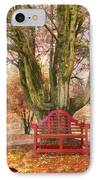 Little Red Bench IPhone Case