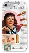 Max Factor Lipstick Ad IPhone Case