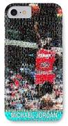 Michael Jordan Rookie Mosaic IPhone Case