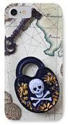 Skull And Cross Bones Lock IPhone Case