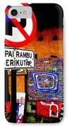 Ubud Art Street  IPhone Case