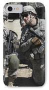 U.s. Soldiers Coordinate Security IPhone Case