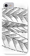 Willow Leaves, Woodcut IPhone Case