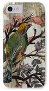 Green-yellow Bird IPhone Case