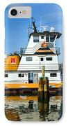 Tug Indian River Is Part Of The Scene At Port Canvaeral Florida IPhone Case