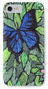 Blue Butterfly Two IPhone Case