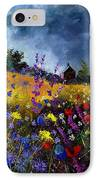 Old Chapel And Flowers IPhone Case