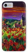 Poppies In Foy IPhone Case