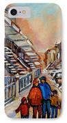 Winter Walk In Montreal IPhone Case
