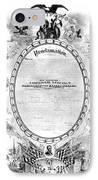 Emancipation Proclamation IPhone Case