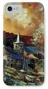 A Village In Autumn IPhone Case