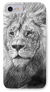 African Nobility - Lion IPhone Case
