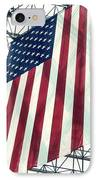 American Flag In Kennedy Library Atrium - 1982 IPhone Case