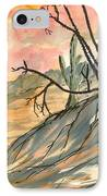 Arizona Evening Southwestern Landscape Painting Poster Print  IPhone Case