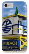 Art Deco Lifeguard Stand IPhone Case
