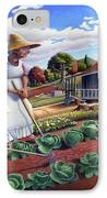 Family Vegetable Garden Farm Landscape - Gardening - Childhood Memories - Flashback - Homestead IPhone Case