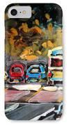 Autumn On The Boulevard IPhone Case