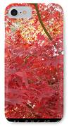 Autumn Red Poster IPhone Case