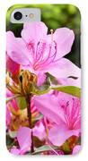 Azaleas Pink Azalea Flowers Artwork 12 Landscape Art Prints IPhone Case