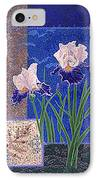 Bearded Irises Fine Art Print Giclee Ladybug Path IPhone Case