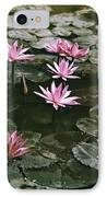 Beautiful Pink Lotus Water Lilies Bloom IPhone Case