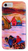 Beautiful Village Ride IPhone Case