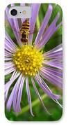 Bee On Wildflower IPhone Case