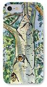 Birch Tree Sketchbook Project Down My Street IPhone Case