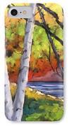 Birches 06 IPhone Case
