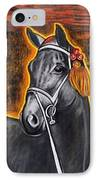 Black Horse IPhone Case