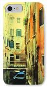 Blue Boat In Venice  IPhone Case