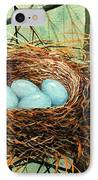 Blue Eggs In Nest IPhone Case