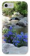 Blue Flowers And Stream IPhone Case