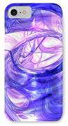 Blue Smoke Abstract IPhone Case