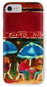 Blue Umbrellas IPhone Case