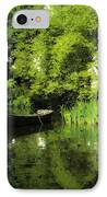 Boat Reflected On Water County Clare Ireland Painting IPhone Case