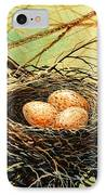 Brown Speckled Eggs IPhone Case
