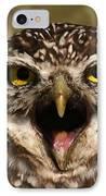 Burrowing Owl Eye To Eye IPhone Case
