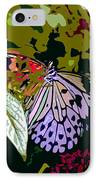 Butterfly In Garden IPhone Case